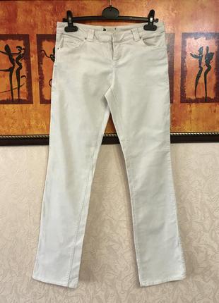 Белые велюровые штаны брюки прямые
