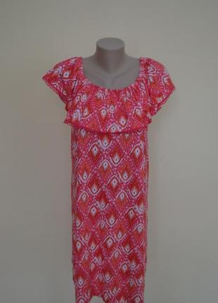 Супер платье туника с воланом