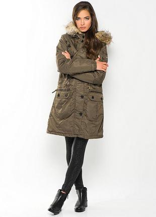 Стильная куртка парка garcia женская удлиненная жіноча тепла д...
