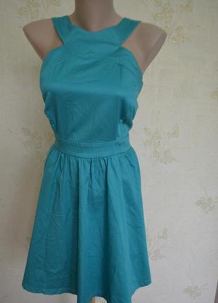 Супер платье сарафан мятного цвета