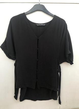 Черная блузка zara