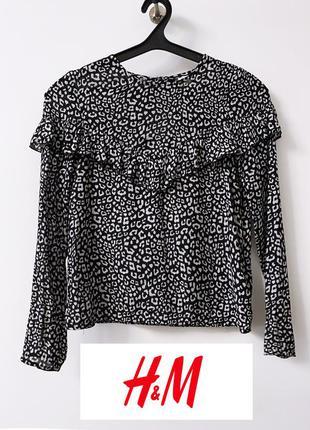 Леопардовая блузка h&m