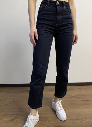 Темные джинсы на высокой посадке asos