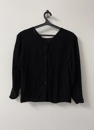 Черная блузка bershka с объемными рукавами