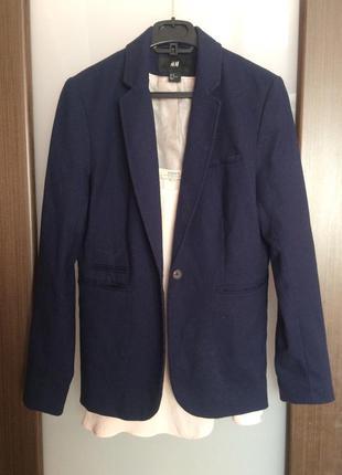 Школьный пиджак темно синий