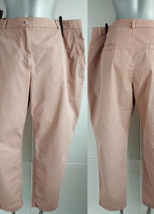 Брюки-чинос marks& spencer розового цвета