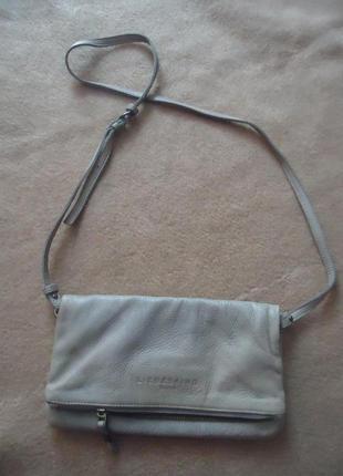 Фирменная кожаная сумка кросбоди liebeskind berlin