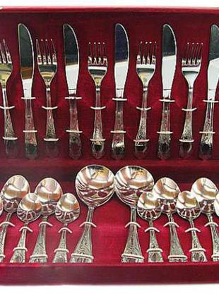 Столовый набор 26 предметов в футляре A-plus, вилки, ложки, ножи
