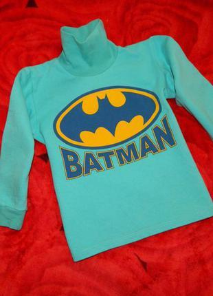 Гольф детский голубой batman на мальчика 4-5 лет