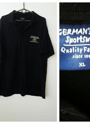 Черная футболка поло большой размер xl