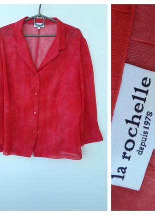 Ярко красная блуза на лето# легкая блуза на лето