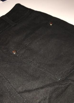 Черная юбка джинс котон
