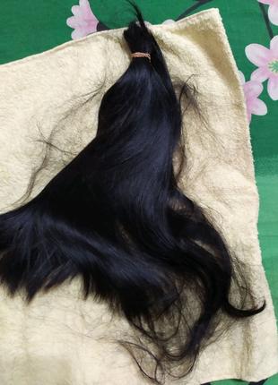 Волосы натуральные черные