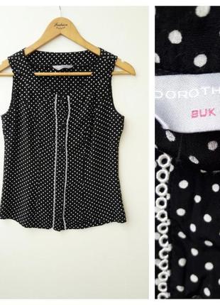 Стильная блуза в горошек s блуза черная в белый горошек