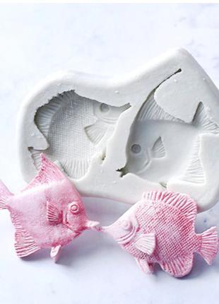 """Молд кондитерский силиконовый """"Рыбки"""" - размер молда 8*6см"""