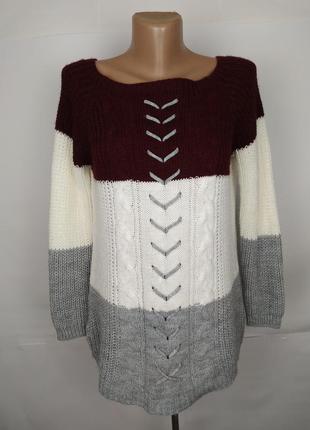 Кофта джемпер свитер итальянский стильный вязаный uk 10-12/38-...