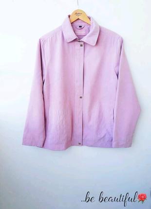 Деми розовая демисезонная куртка розовая ветровка xxl 16 р.