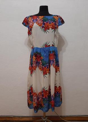 """Стильное модное платье """" цветочница """" большого размера"""