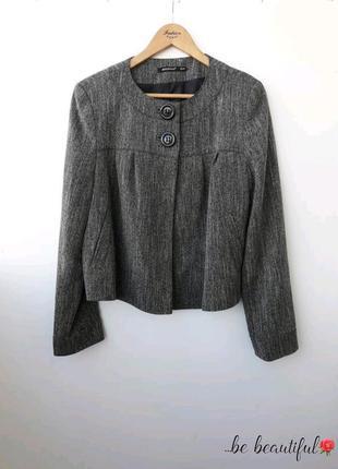 Меланжевый пиджак свободного кроя большой размер xxl 2xl16 р.