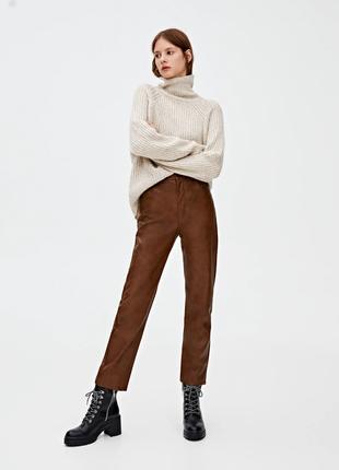 Кожаные брюки от pull&bear