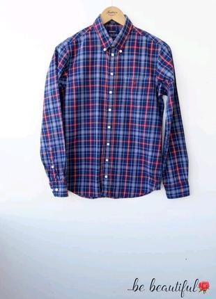 Трендовая рубашка в клетку в мужском стиле s m