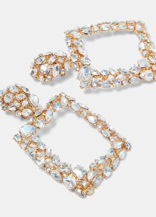 Серьги кристаллы в стиле Зара, ZARA
