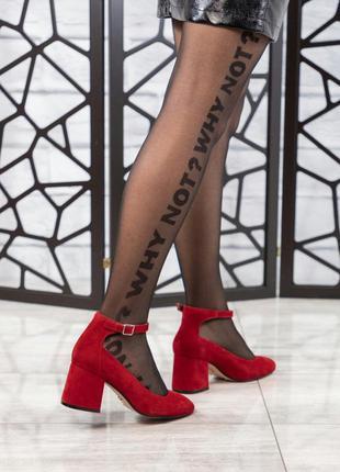 ❤ женские красные туфли на каблуке ❤