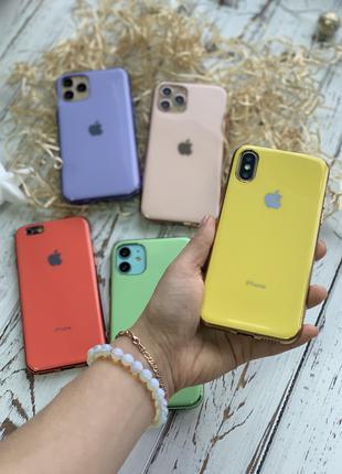 Silicone Glass Case для Iphone. дропшиппинг и розница