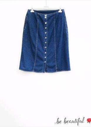 Джинсовая юбка на пуговицах юбка миди на пуговицах джинсова сп...