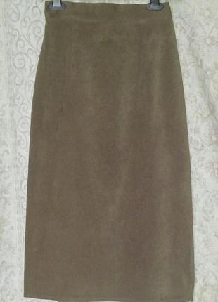 Юбка миди, юбка-карандаш, на подкладке