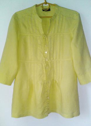Льняная салатовая рубашка-блуза Principles Petite