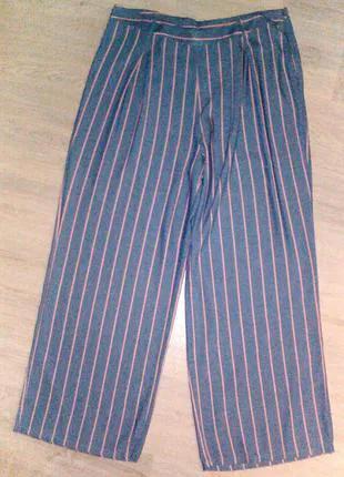 Качественные брюки в полоску на лето 18 размер  Papaya