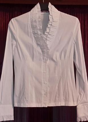Блуза романтическая классика белая
