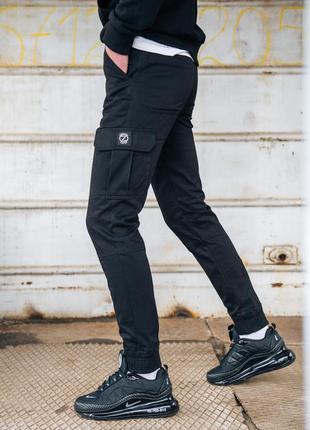 Карго брюки bezet basic black' 20
