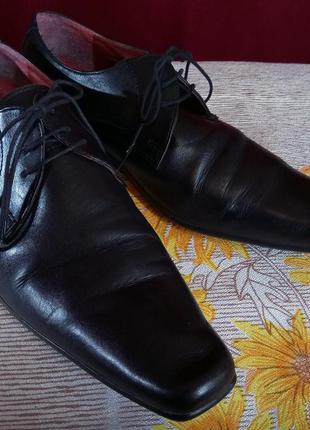 Туфли кожаные на шнурках