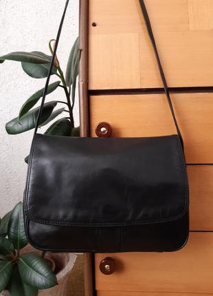 Кожаная сумка кроссбоди-почтальон-органайзер, есть отдел для з...