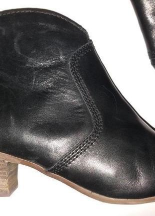 Деми комфортные кожаные ботиночки clarks 7 (41р)