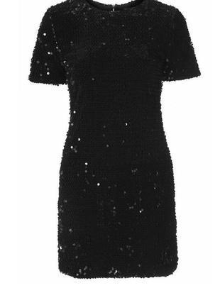 Бархатное платье реверсные пайетки перевертыши topshop p m