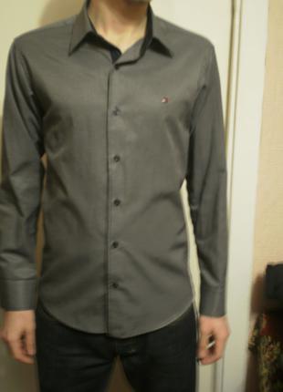 Tommy Hilfiger рубашка, сорочка Серая