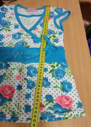 Красивое летнее платье на девочку 2-х лет