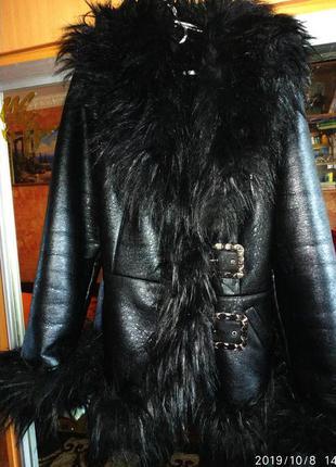 Дублёнка fashion stil, зимняя куртка на меху