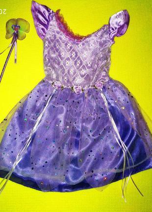 Новогоднее карнавальное платье на девочку 3-4 года
