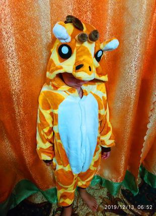 Карнавальный новогодний костюм жирафа на 3-4 года