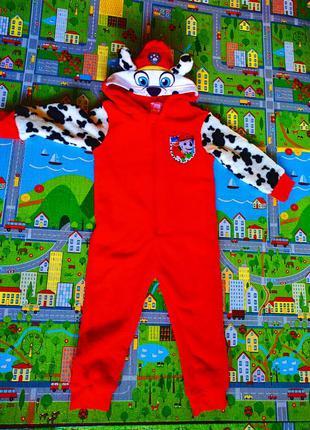Костюм гонщика, щенячий патруль, пижама на 1-2 года
