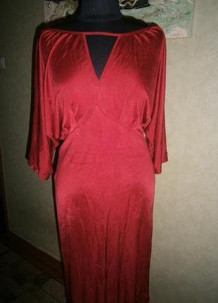 Новогодняя цена! вечернее кроваво-красное платье nikowa германия