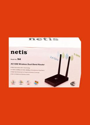 Роутер Netis N4 ac Гарантия 2Г 5GHZ 2.4ГГц Маршрутизатор Официал