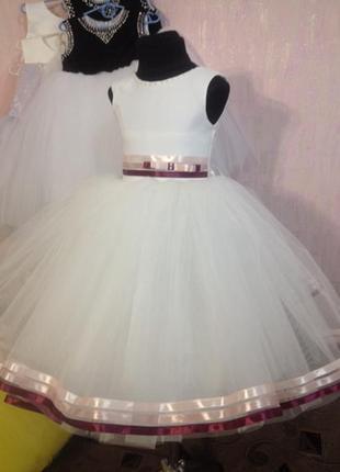 Платье детское нарядное для торжеств 3-5 лет размеры hand made