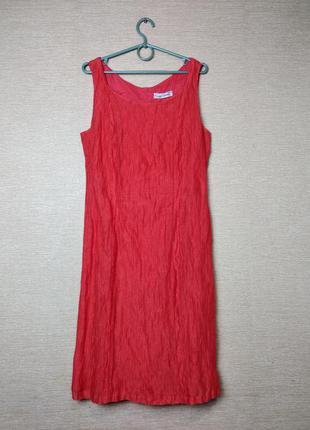Летнее платье сукня футляр жатка luisa cerano