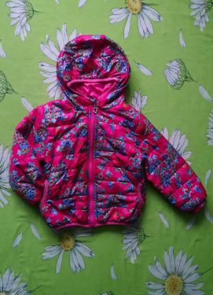 Яркая, демисезонная куртка для девочки 3-4 года