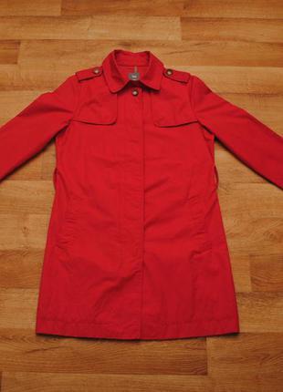 Яркий, красний тренч, gap, женский тренч, женское пальто